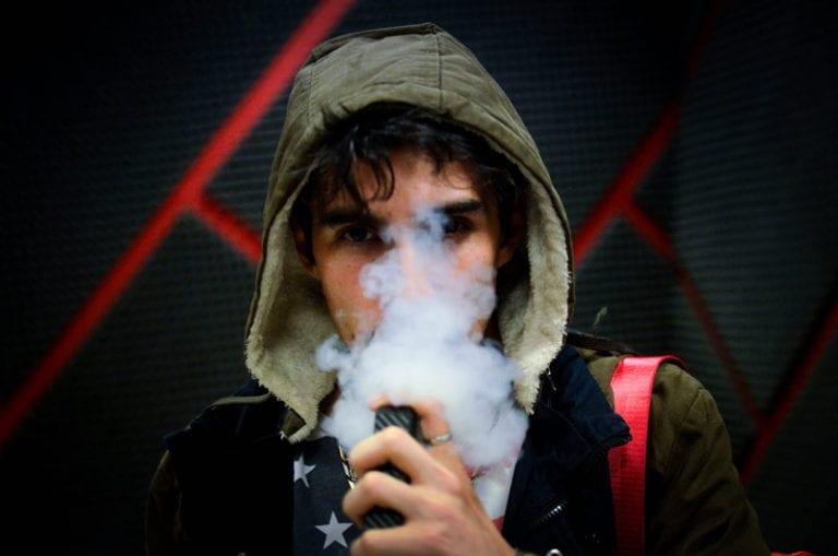vaping cannabis.