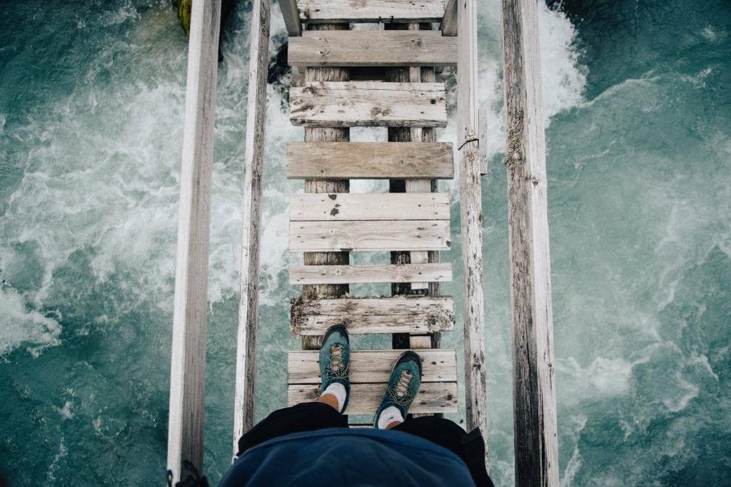 scary foot bridge