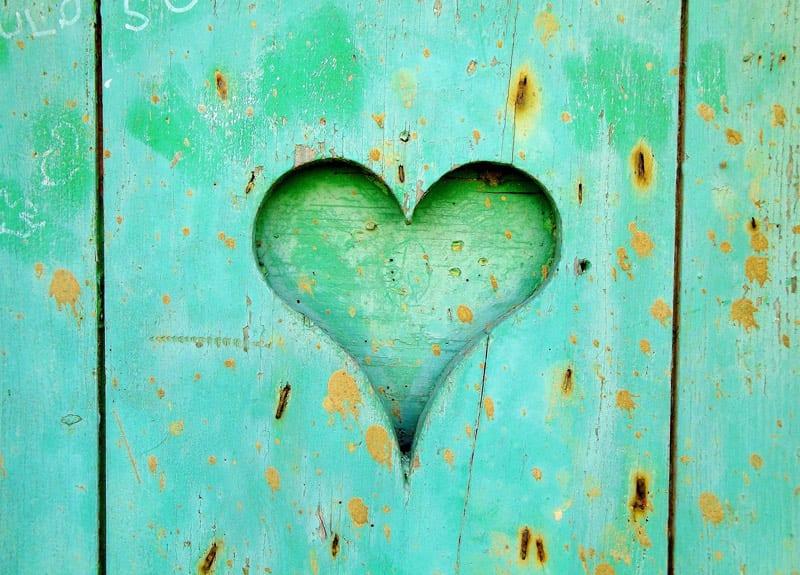 best life heart in wood