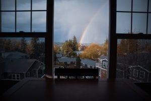 window view of rainbow