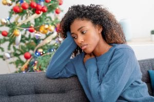 young woman on couch