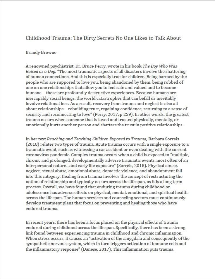 childhood trauma paper thumbnail