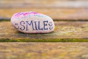 painted smile rock