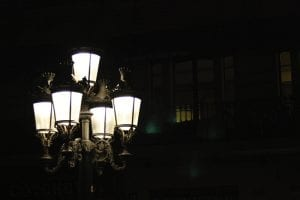 old-fashioned gaslights